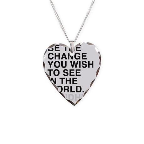 gandhi Necklace Heart Charm
