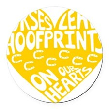 Hoofprints Round Car Magnet
