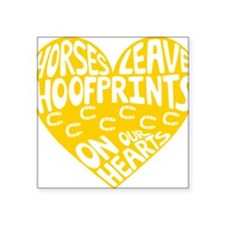 "Hoofprints Square Sticker 3"" x 3"""