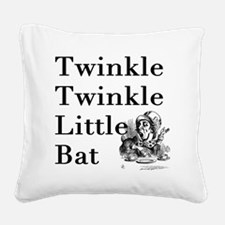 Mad Hatter- Twinkle Twinkle L Square Canvas Pillow