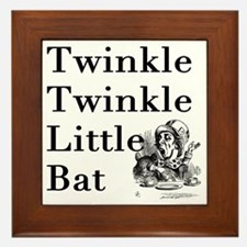 Mad Hatter- Twinkle Twinkle Little Bat Framed Tile