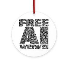 Free Ai Weiwei Round Ornament