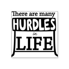 "Hurdles Square Sticker 3"" x 3"""