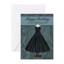 Birthday Dress And Purse Greeting Cards (Pk Of 10)