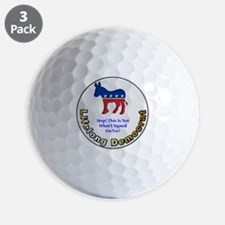DemNotSignedOn 12x12 Golf Ball