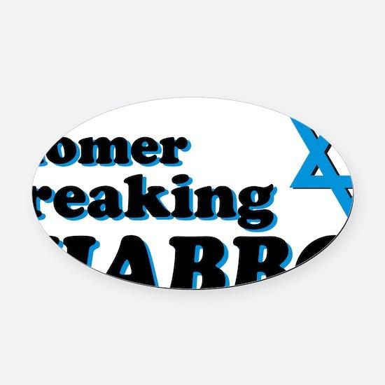 Shomer Shabbos Oval Car Magnet