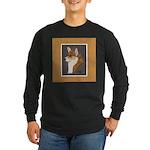 Corgi Head Study Long Sleeve Dark T-Shirt