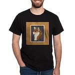 Corgi Head Study Dark T-Shirt