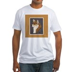 Corgi Head Study Fitted T-Shirt