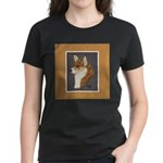 Corgi Head Study Women's Dark T-Shirt