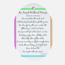 Nurse Poem Oval Ornament