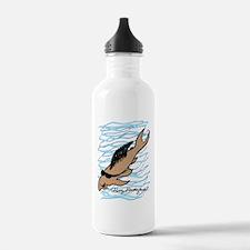 background blue 2 big  Water Bottle