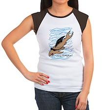 background blue 2 big c Women's Cap Sleeve T-Shirt