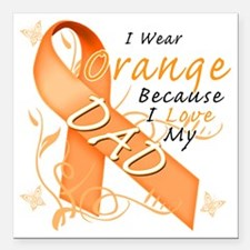 "I Wear Orange Because I  Square Car Magnet 3"" x 3"""