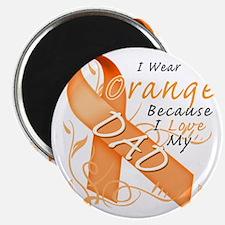 I Wear Orange Because I Love My Dad Magnet