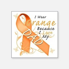 "I Wear Orange Because I Lov Square Sticker 3"" x 3"""