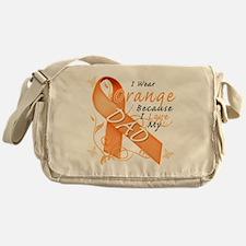 I Wear Orange Because I Love My Dad Messenger Bag