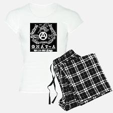 GNAT-A white on black Pajamas