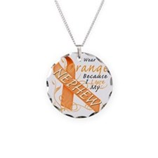 I Wear Orange Because I Love Necklace Circle Charm