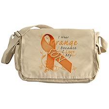 I Wear Orange Because I Love My Son Messenger Bag