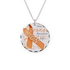 I Wear Orange Because I Love Necklace Circle Charm