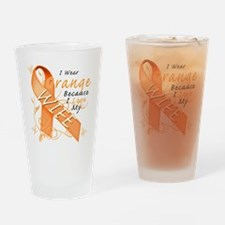 I Wear Orange Because I Love My Wif Drinking Glass