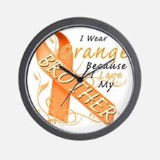 I Wear Orange Because I Love My Brother Wall Clock