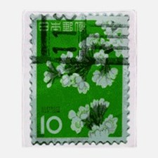 flower_green Throw Blanket