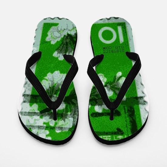 flower_green Flip Flops