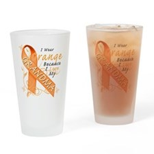 I Wear Orange Because I Love My Gra Drinking Glass