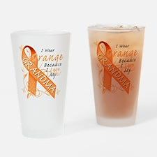 I Wear Orange Because I Love My Gra Drinking Glass