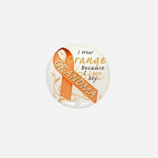 I Wear Orange Because I Love My Grandm Mini Button