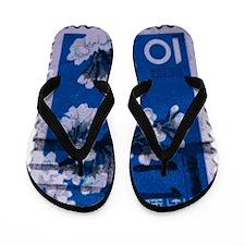 flowers_blue Flip Flops