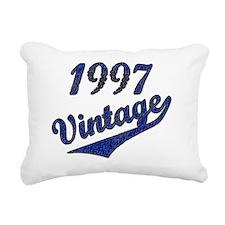 1997 Vintage Blue Rectangular Canvas Pillow
