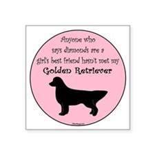 "GBF_GoldenRetriever Square Sticker 3"" x 3"""