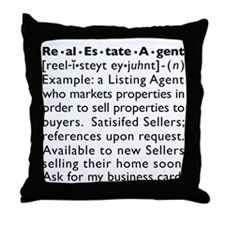LISTING AGENT Throw Pillow