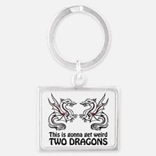 Two Dragons Landscape Keychain