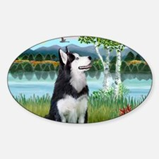 LIC-Birches - Siberian Husky Decal