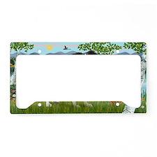 LIC-Birches-Border Collie (st License Plate Holder