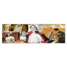 nurse collage mug Bumper Sticker