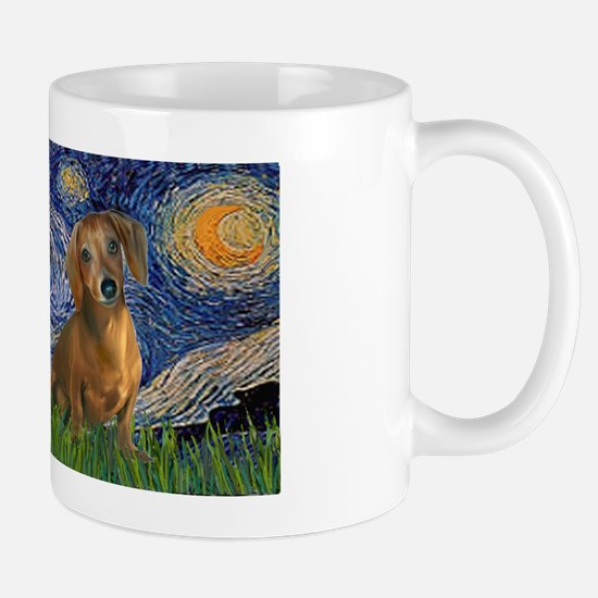 LIC-Starry Night - Dachshunds (two brow Mug