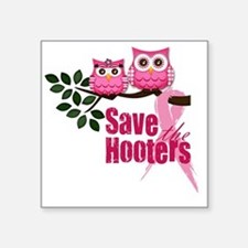 "save the hooters 2 copy Square Sticker 3"" x 3"""