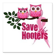 """save the hooters 2 copy Square Car Magnet 3"""" x 3"""""""