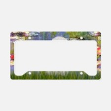 LIC - Lilies 2 - Poodle (Whit License Plate Holder
