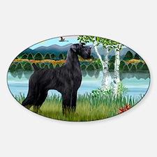 LIC-Birches-Giant black Schnauzer Sticker (Oval)