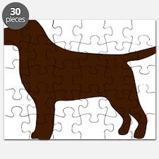 ChocolateLabSilhouette Puzzle