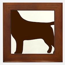 ChocolateLabSilhouette Framed Tile