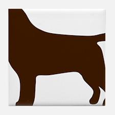 ChocolateLabSilhouette Tile Coaster