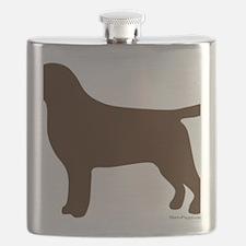 ChocolateLabSilhouette Flask