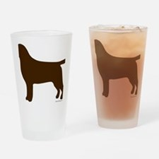 ChocolateLabSilhouette Drinking Glass